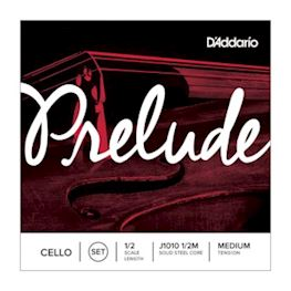 DADDARIO - J1010-12M PRELUDE CELLO SNAREN SET 1/2 MEDIUM