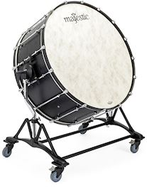 MAJESTIC - MCB3618 CONCERT BASSDRUM WITH TILTING STAND, MALLETS