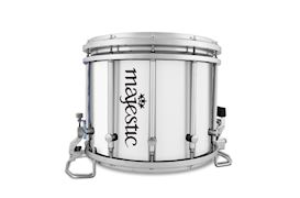 "MAJESTIC - HIGH TENSION SNAREDRUM 14X12"" + TOP SNARE GREY STEEL"