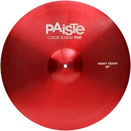 "PAISTE - 900 SERIE COLOR SOUND 20"" HEAVY CRASH CYMBAL RED"