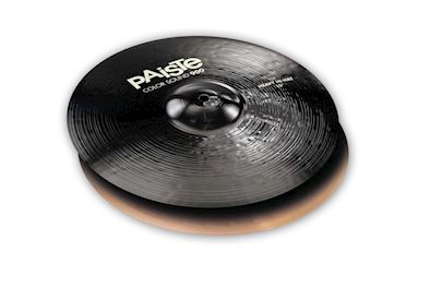 "PAISTE - 900 SERIE COLOR SOUND 15"" HEAVY HIHAT CYMBALS BLACK"