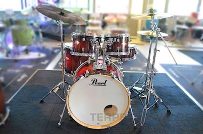 PEARL - DMP925SC261 DECADE MAPLE DRUMSTEL DEEP RED BURST INCL HW