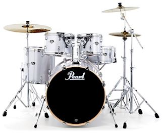PEARL - EXX705NC700 EXPORT DRUMSTEL ARCTIC SPARKLE W/PEARL CYMBALS