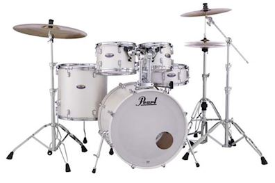 PEARL - DMP925SC229 DECADE MAPLE DRUMSTEL WHITE SATIN PEARL INCL HW