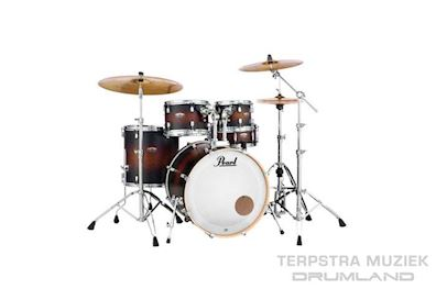 PEARL - DMP925SC260 DECADE MAPLE DRUMSTEL SATIN BROWN BURST INCL HW