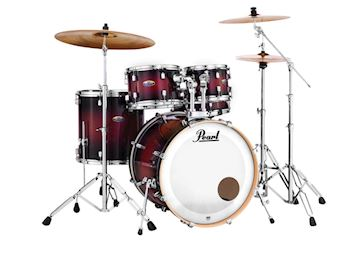 PEARL - DMP925SF261 DECADE MAPLE DRUMSTEL DEEP RED BURST INCL HW