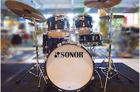 SONOR - DRUMSTEL AQ2 STUDIO SET TRANSPARANT STAIN BLACK(TSB)SHELLSET