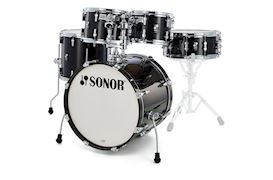 SONOR - DRUMSTEL AQ2 STAGE SET TRANSPARANT STAIN BLACK(TSB) SHELLSET
