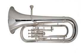 BESSON - BE1062 EUPHONIUM BB, 3 STAINLESS STEEL VALVES, ZILVER