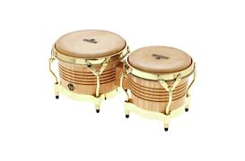 LATIN PERCUSSION - M201-AW BONGO MATADOR WOOD GOLD HARDWARE