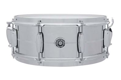"GRETSCH - GB4165S SNAREDRUM BROOKLYN 14X5,5"" CHROME OVER STEEL"