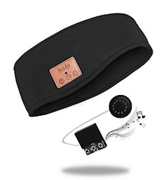 BEANIE - BLUETOOTH SPORTBAND MET SPEAKERS ZWART