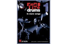 BOEK - REAL TIME DRUMS IN MORE SONGS LEVEL 1 (BK-CD) OOSTERHOUT