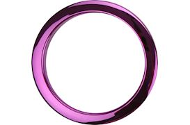"BASSDRUMOS - 4"" PURPLE CHROME DRUM O'S"