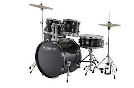 LUDWIG - LC1701 ACCENT FUSE 5PC COMPLETE W/ HARDWARE BLACK
