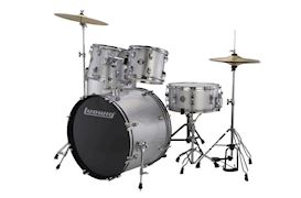 LUDWIG - LC17515 ACCENT DRIVE 5PC COMPLETE - SILVER FOIL