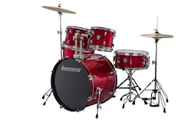 LUDWIG - LC1754 ACCENT DRIVE 5PC COMPLETE RED