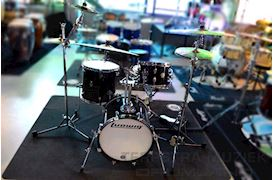 LUDWIG - LC179X016 BREAKBEATS BY QUESTLOVE 4PC BLACK SPARKLE