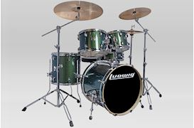 "LUDWIG - LCEE20018 ELEMENT EVO DRUMSET 20""+HW EMERALD GREEN SPARKLE"