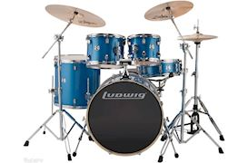 "LUDWIG - LCEE22023 ELEMENT EVOLUTION DRUMSET 22""+HW BLUE SPARKLE"