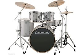 "LUDWIG - LCEE22028 ELEMENT EVOLUTION DRUMSET 22""+HW WHITE SPARKLE"